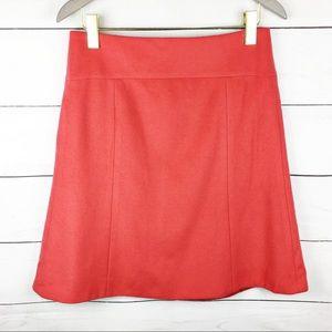 J. Crew Cashmere Blend A Line Skirt Pink 6